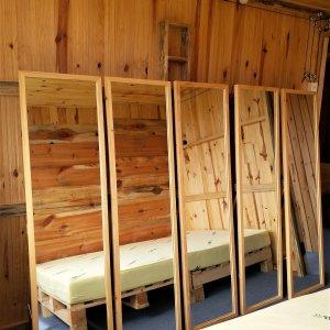 Gương soi toàn thân đà lạt khung gỗ có chân