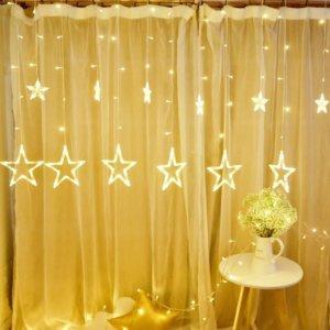 Dây đèn led ngôi sao lớn trang trí giáng sinh noel