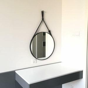 Gương tròn treo dây da nhà ở, Homestay, khách sạn