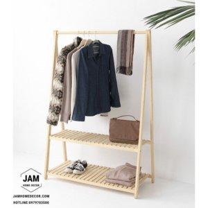 Kệ gỗ treo quần áo chữ A 2 tầng tại Đà Lạt