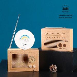 Mô hình radio gỗ trang trí có nhạc